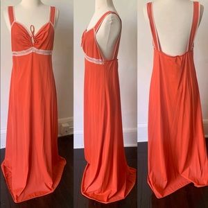 Vintage Backless 1970's Slip Dress Nightgown